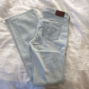 Express light blue jeans